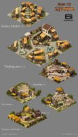 Age of Sparta (Gameloft) concept buildings part 2 by nennnnnn