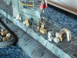 Type VII U-Boat Refit Diorama Men at Work by Kingtiger2101