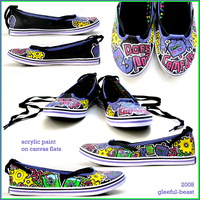 handpainted shoes IV by gleeful-beast