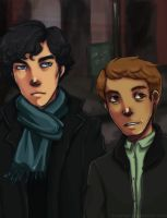 Sherlock and John by Kayetart