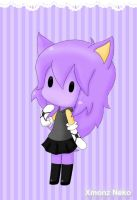Chibi Purple Hedgie by XmonzNeko
