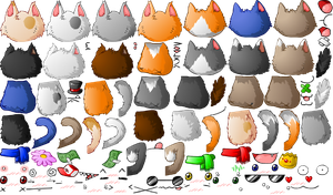 Cat Cafe Spritesheet by KupoGames