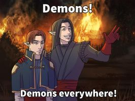 Demons everywhere by Azzedar-san