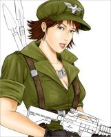G. I. Joe Lady Jaye colored by randychen