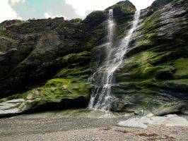 Waterfall at Tintagel by avalonmoon13