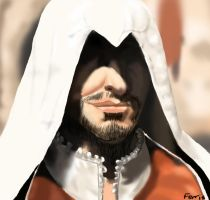 AC brotherhood: ezio smirk by animeferris