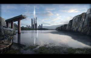 Matte Painting by presidentindia