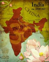 Civilization 5 map: India by Beastysakura