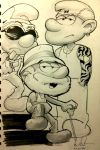 Sketch 97: Smurfs by Dreamerwstcoast