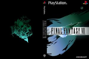 Final Fantasy VII: Minimalist Boxart by CaptJapan