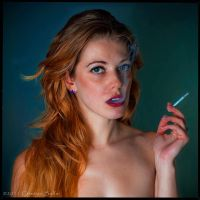 Suzanna smoking by csallai