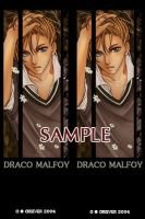 Draco Malfoy bookmark by 4-th