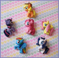 Chibi-Charms: My Little Pony originals by MandyPandaa