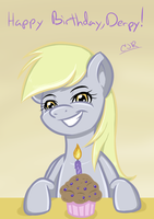 Happy Birthday Derpy Hooves 2012 by X-Cross