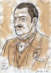 Black Coffee Poirot portrait by ShinRedDear