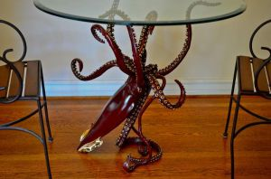 'LEGEND' bronze dining table by Kirk McGuire by bronze4u