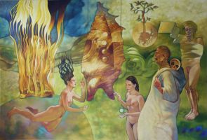 Mural Meditation about Crysalis by cascarin