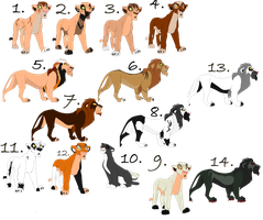 Lion Adoptables 2 [CLOSED] [FREE!] by horse-power