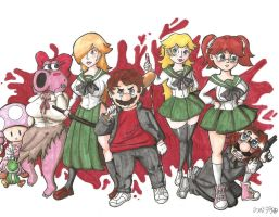 Mushroom Kingdom of the Dead by Heiwagotssunglasses