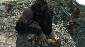 Skyrim Screenshots- Werewolf Deathblow by vincent-is-mine