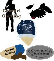 Cowgirl Clothing Logo Designs by Lenore5k