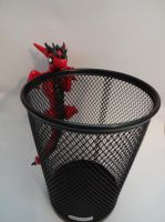 Red Dragon Pencil Holder by ByToothAndClaw