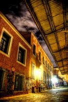 Plaka Athens alley by Piddling
