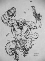 Hellboy Inks Guile Pencils by FanBoy67