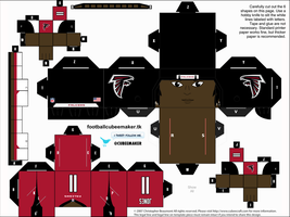 Julio Jones Falcons Cubee by etchings13