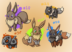 Aron Eevees by PaperBirdhouse