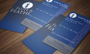 Vertical Business Card Design by SobohRami