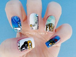 East of the Sun and West of the Moon Nails by jeealee