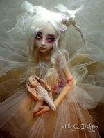 BJD ball jointed doll  Summer's Garden Bunny B by cdlitestudio