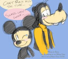 Mickey and Goofy : Can't Rain by angelsunbomb