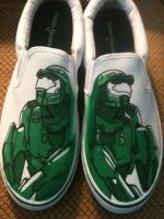 Master Chief Shoes by kanji-and-koi