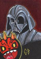SketchCard: StarWars DARTH duo by Axigan