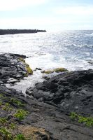 Cooled lava and Ocean by Shawn-Saylor