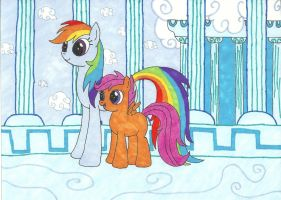 Rainbow Dash and Scootaloo: I'll Always Be There by Snowblitz227