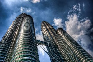 Petronas Twin Towers HDR 2 by MisterDedication