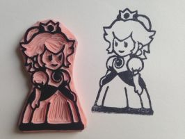 Paper Mario Princess Peach Stamp by Littel-Gerll