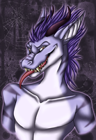 Zenon - Halloween Bust Commish by kcravenyote