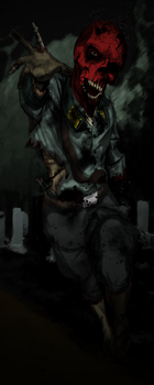 Zombie Skull - Coloured by The-Great-Radio