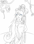 Wind Princess lines by Tharene