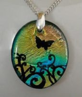 Butterfly Swirls Pendant by poisons-sanity