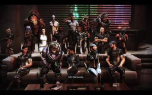 ME3 Citadel DLC - Jane Shepard's Family Photo by chicksaw2002