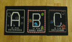 Video Game Alphabet - A,B,C by Craftigurumi