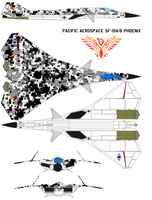 Pacific Aerospace SF-19 A B Phoenix  digital camo by bagera3005