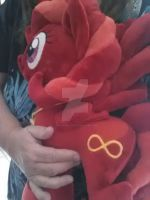 MLP Plush commission gets hugs before her journey by CINNAMON-STITCH