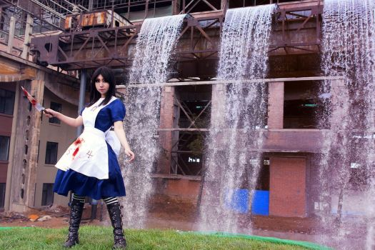 AliceMadness Returnsn bluedres by michivvya