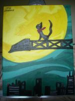 Ghost Trick Sissel Painting Game Ending on canvas by dragontamer272